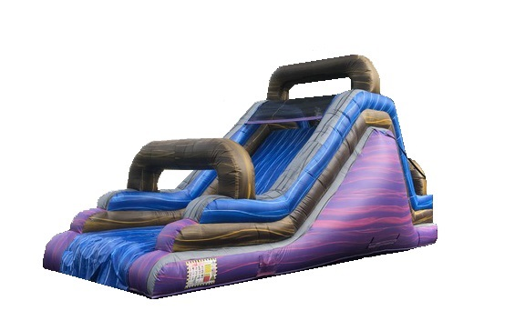 16ft Dashing Colors Inflatable Slide Rentals